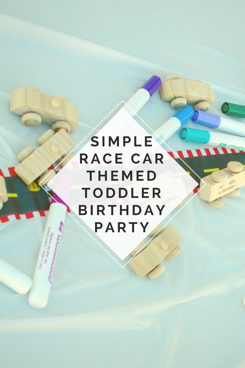 Simple Race Car Themed Toddler Birthday Party